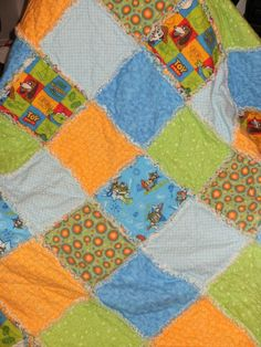 Toy Story Friends Rag QuiltApproximately 42 X 49 by countrypickens, $55.00