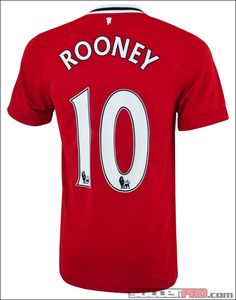 Nike Manchester United Rooney Home Soccer Jersey 2011-2012...$84.99