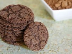 Duncan Hines Dark Chocolate Cake Mix cookies. Recipe calls for:     box of cake mix  2 Eggs  1/2c Oil  1c Sugar    but you could use any cake mix flavor you want. i'm trying it with red velvet!