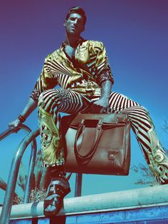 @Versace Spring/Summer 2012 Men's Advertising Campaign: Sophisticated & Original Signature Patterns, Cuts, Fits, & Presentations