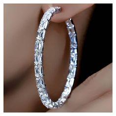 ASHOKA® Diamond Large Hoop Earrings by William Goldberg | MISS... ❤ liked on Polyvore featuring jewelry, earrings, hoop earrings, diamond jewelry, diamond hoop earrings, diamond earrings and diamond jewellery