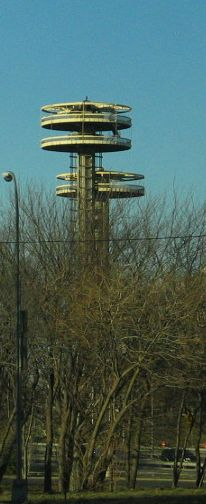 The observation towers from the 1964 World's Fair in Queens, now in a state of neglect
