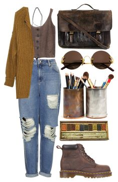 """Untitled #104"" by geospirit3 ❤ liked on Polyvore featuring Topshop, Humanoid, Dr. Martens, Givenchy, Cartier and Priestley's Vintage"