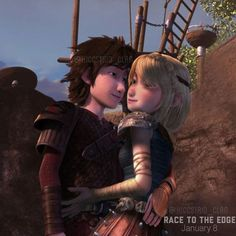 Instagram photo by @hiccstrid_clan via ink361.com < Hiccstrid. I love the way Hiccup is looking at her. So sweet! :)