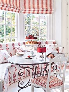 Red Breakfast Room