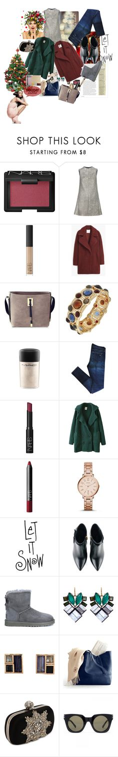 """""""yea....it's only a Christmas dream..."""" by claire86-c on Polyvore featuring moda, NARS Cosmetics, Yves Saint Laurent, MANGO, MAC Cosmetics, rag & bone, FOSSIL, Kim Kwang, UGG Australia e Nak Armstrong"""