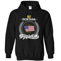 Born in BELT MONTANA T-Shirts, Hoodies. ADD TO CART ==► https://www.sunfrog.com/States/Born-in-BELT-MONTANA-V01-3228-Black-Hoodie.html?id=41382