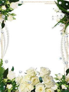 Whire Roses Delicate Photo Frame​ | Gallery Yopriceville - High-Quality Images and Transparent PNG Free Clipart