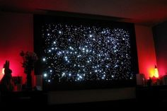 Reach for the stars with this spectacular DIY fiber optic star map. This indoor representation of the twinkling night sky is amazingly constructed from fabric, a fiber optic Christmas tree, LEDs, wire, and heat shrink tubing.