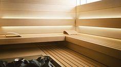 See the home page to enter KLAFS world of saunas and spas! Spas, Sauna Steam Room, Sauna Room, Design Sauna, Design Design, Design Ideas, Shape Design, Modern Saunas, Sauna Lights