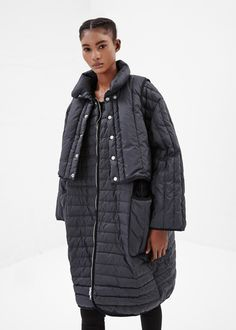 Henrik Vibskov Round Down Coat (Black)