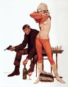 Pulp Art of Robert McGinnis: Guns, Dolls & Gangsters Molls Robert Mcginnis, Arte Do Pulp Fiction, Pulp Fiction Kunst, Earl Moran, Comics Vintage, Vintage Art, Our Man Flint, Fawcett, Serpieri