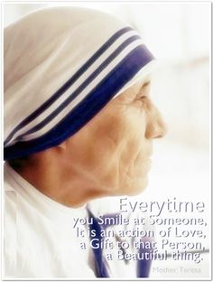 """""""There is love in your smile ~ St. Missionaries Of Charity, Saint Teresa Of Calcutta, Selfless Love, Saint Quotes, Mother Teresa, Embedded Image Permalink, Gods Love, Role Models, Love Her"""