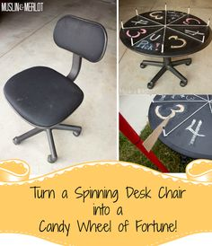 DIY Wheel of Fortune! Spin your way to a candy prize :-).