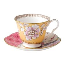 Wedgwood Butterfly Bloom Teaware Yellow Teacup & Saucer