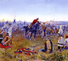 single handed 1912 Charles Marion Russell American Indians art for sale at Toperfect gallery. Buy the single handed 1912 Charles Marion Russell American Indians oil painting in Factory Price. All Paintings are Satisfaction Guaranteed American Indian Art, American Indians, American History, Canvas Art, Canvas Prints, Art Prints, Charles Marion Russell, Frederic Remington, Le Far West
