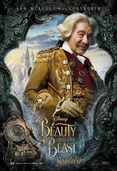 Beauty and The Beast Character Poster - Cogsworth