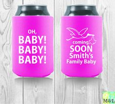 66 best baby shower coolies images on pinterest bachelor party customized baby shower gift oh baby shower gift for a baby girl keep your drink cold at the shower with personalized koozies negle Images