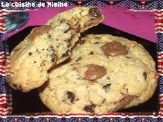 US cookies of death that kill ! - The kitchen of Mimine - cuisine - Cas, Monster Snacks, Madeleine Cake, Green Tea Diet, Super Cookies, Brownie Cookies, Cookies Et Biscuits, Cookie Recipes, Food And Drink