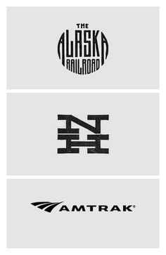 100 logos chronicling the history of railroad identity design, starting in 1845
