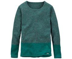 Mirey Brook Crew Neck Sweater in dark teal #timberland #inmyelement