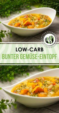 Der kunterbunte Gemüse-Eintopf ist low-carb, vegan und glutenfrei.