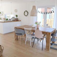 Dining Room, Dining Table, Interior Design, Furniture, Minimalist Kitchen, Kitchen Design, Home Decor, Instagram, Spaces