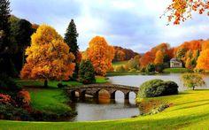Gambar Pemandangan Indah - Jembatan & Musim Gugur