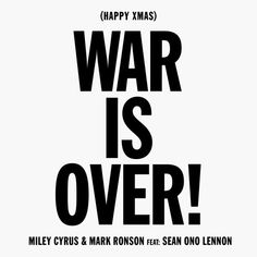Happy Xmas (War Is Over) [feat. Sean Ono Lennon] by Miley Cyrus & Mark Ronson on Apple Music Miley Cyrus Songs, New Years Song, New Music Releases, Mark Ronson, My Heart Is Breaking, Apple Music, Music Is Life, Xmas, Christmas