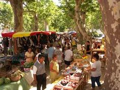 St Chinian market day, The village has a good market on Thursday and Sunday mornings Flea Markets, South Of France, Mornings, Wines, Thursday, Places To Go, Traveling, Sunday, Voyage