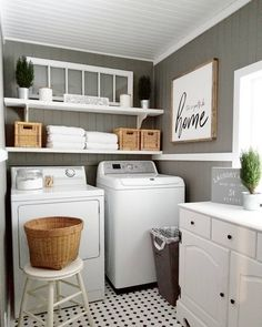 When doing laundry results in rearranging the laundry room decor. Sharing for @cottonstem #cottonstemheartssimplicity today! I love a clean, fresh laundry room! #laundryroom #laundrydecor #homedecor #shopthehome #oldwindow #minichristmastrees #woodsign #diyhomedecor #mystyle #mydesign #beadboard #plankedceiling #bathroomlaundrycombo