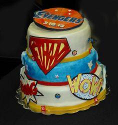 Comic book Bar Mitzvah Cake!