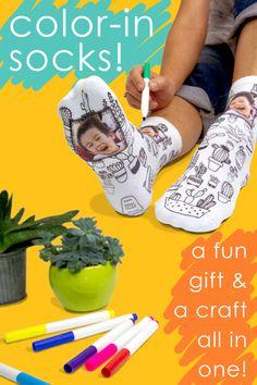 Lovely Birthday or Christmas Gift Black Socks With Moon /& Stars Design