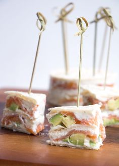 Gerookte zalm wrap taartjes - Laura's Bakery