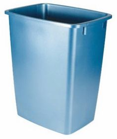 36 Qt Large Open Wastebasket Brilliant 40 Galblue Square Recycling Container Without Lid  Products Inspiration