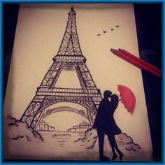 Dibujos a carboncillo faciles de amor