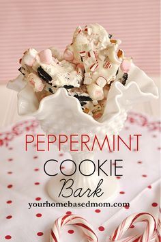 Peppermint Cookie Bark (this sounds yummy!)