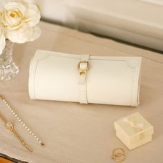Ivory Jewellery Roll - bedroom