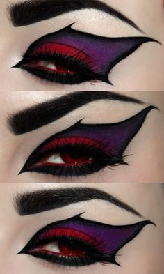 Beautiful Eye Makeup. This would work really well for a Maleficent costume..