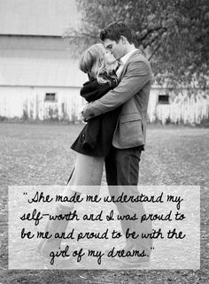 """""""She made me understand my self-worth and I was proud to be me and #proud to be with the #girl of my #dreams."""" #quote #beauty #beautiful #confidence #love"""