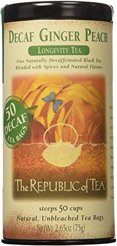 The Republic Of Tea, Decaf Ginger Peach Black Tea, 50 Tea Bag Tin The Republic of Tea http://www.amazon.com/dp/B0054S5RJM/ref=cm_sw_r_pi_dp_d6ZCwb1V28DMZ