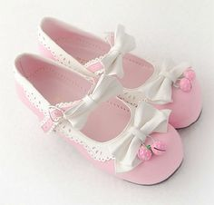 Princess Sweet Lolita shoes Royal HARAJUKU pink strawberry bell cute bow round toe pumps for young girl custom color can choose Dr Shoes, Low Heel Shoes, Sock Shoes, Me Too Shoes, Low Heels, Shoe Boots, Baby Shoes, Shoes Heels, Kawaii Shoes