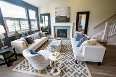 """Living Room of a model home with the """"Marseille"""" floor plan   built by www.HenryWalkerHomes.com"""