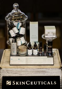 A sampling of SkinCeuticals products
