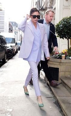 Victoria Beckham wearing Victoria Beckham out in London