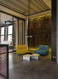 décoration d'appartement moderne de style industriel