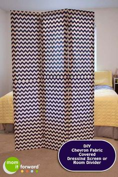 How to Make a Chevron Room Divider or Dressing Screen