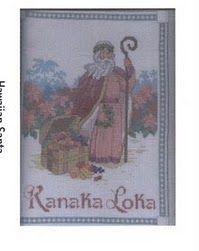 cross stitch - Hawaiian Santa