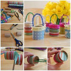 Petits paniers de Pâques. 15 Activités manuelles avec du rouleau de papier toilette pour amuser les enfants à Pâques