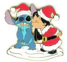 Your WDW Store - Disney Stitch Pin - Lilo Kissing Santa Stitch